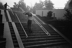 Rain (Foide) Tags: summer rain stockholm suburb kodakdoublex bwcinefilm