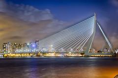 DSC_0721_HDR.jpg (James Lowery) Tags: longexposure bridge holland netherlands night rotterdam erasmus thenetherlands hdr erasmusbrug southholland rottedam