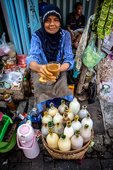 Jamu Please.. (nandi_lifeco) Tags: woman indonesia java nikon market drink traditional semarang jamu 18105 prajnandi