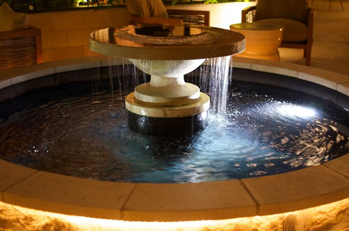 Awesome fountain on the patio