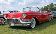 1957 Cadillac (crusaderstgeorge) Tags: cars cadillac 1957 classiccars västerås cabriolet americancars redcars powermeet 1957cadillac americanclassiccars powerbigmeet amerikanskabilar july2014