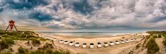 Blokhus Beach Panorama (mnielsen9000) Tags: panorama clouds landscape september beachhut blokhus nikond600 nikkor24120f4 blokhusseamark