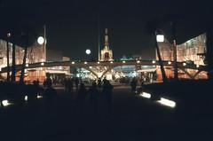 Disneyland (jericl cat) Tags: night vintage disneyland entrance grand peoplemover 1960s tomorrowland