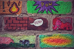 Painted Bricks St Werburgh's Farm (Benn Gunn Baker) Tags: st canon bristol baker farm painted bricks benn gunn werburghs 550d t2i
