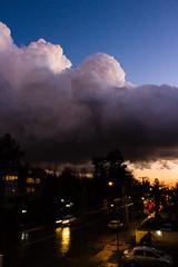 Day and Night (Jimquintaola) Tags: chile city santiago sunset storm night clouds atardecer noche day ciudad dia nubes tormenta bigwavejim
