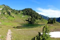 Heart Lake (daveynin) Tags: blue sky nps clear trail olympic deaftalent deafoutsidetalent deafoutdoortalent