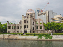Hiroshima Peace Memorial (Genbaku Dome) (Clay Gilliland) Tags: japan train