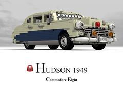 Hudson Commodore Eight - 1949 (lego911) Tags: auto usa classic car america sedan model lego render 8 1940s only commodore hudson saloon 83 eight challenge 1949 cad lugnuts povray moc ldd miniland onlyinamerica lego911