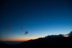 (Tossy Aikawa) Tags: sunset mountain silhouette japan fukushima magichour bluemoment