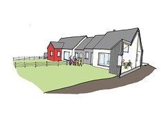 External design of community housing (copyright Thorne Wyness Architects)
