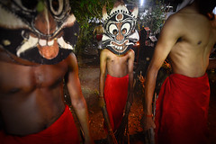 Revering the Mother Goddess  Padayani (Leonid Plotkin) Tags: india festival religious asia village mask traditional religion goddess ceremony kerala celebration ritual tradition hindu hinduism rite kollam mothergoddess padayani folktradition kadammanitta