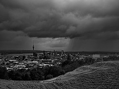 Auckland Spring rain (francohara) Tags: new sky tower rain mt auckland zealand eden