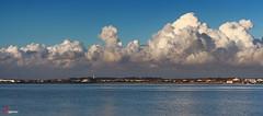 Ra de Aveiro. (Eugercios) Tags: portugal clouds landscape mar agua europa europe paisagem nubes nuvens nuvem ria nube aveiro