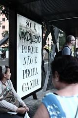 vandalizando (bing0ne) Tags: urban action propaganda ad culture s jamming vandal rua paulo capitalism bingo so adbuster intervention bingone