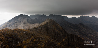 Black Cuillin Ridge Panorama