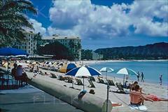 Royal Hawaiian Beachfront 1952 (Kamaaina56) Tags: 1950s waikiki hawaii beach slide moana royalhawaiian