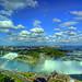 Niagara Falls rainbow from Tower Hotel