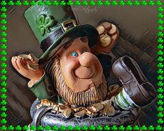 Happy St Patrick's Day (Rollingstone1) Tags: stpatricksday shamrock leprechaun gold green buckle hat holiday feast slaintemhath ireland