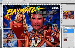 Baywatch Translite. Restored Mikonos1 (Mikonos - Zona Arcade) Tags: baywatch pinball vigilantes de la playa translite sega zona arcade mikonos artwork restored scan