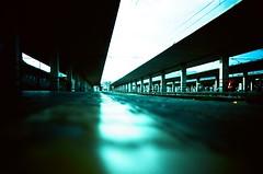 Train station blues (Cloni) Tags: film analog 35mm lomo trainstation agfa ratseye