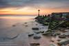 Seaton Sluice Sunset (N.J.W Images) Tags: longexposure sunset seascape seaside northumberland groyne goldenhour seatonsluice leefilters bwnd