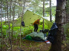 Our tarp (The Cabin On The Road) Tags: alaska kayak kayaking seakayak tarp seakayaking alaskaseakayaking tarpcamp