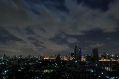 Honey Moon (manidad1) Tags: city light moon night clouds thailand nikon long exposure bangkok sigma 18200mm d90