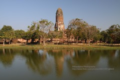 Ayutthaya, Wat Phra Ram, reflections (blauepics) Tags: world old city tower heritage water architecture reflections thailand temple site wasser capital hauptstadt religion unesco stadt architektur ram wat turm tempel weltkulturerbe phra ayutthaya alte reflektionen prang