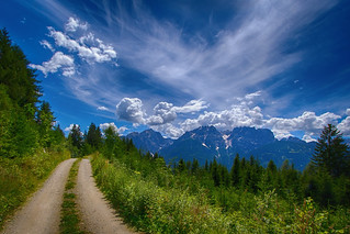Weg zu den Lienzer Dolomiten