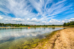0394 - England, Derbyshire, Carsington Water HDR (Barry Mangham) Tags: england sky water clouds canon derbyshire sunny reservoir hdr photomatix