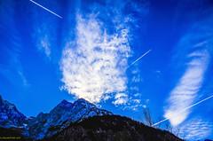 Rauchzeichen über dem Karwendelgebirge (LR5)