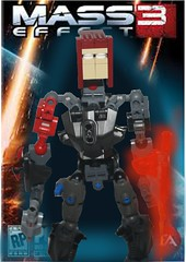 Commander Shepard (Maethorneth) Tags: lego mass effect bionicle commander shepard mocpages omniblade