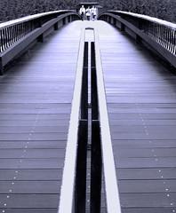 Pedestrian bridge (chrisk8800) Tags: barcelona street wood city bridge light urban lumix photography spain construction timber engineering pedestrian catalonia panasonic g6 pedestrianbridge