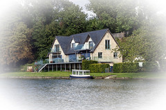 I wouldn't mind living here! (P Sterling Images) Tags: houses england beauty thames photoshop river boats hotel swan lock sony south cc tamron berkshire luxury barge oxfordshire a77 keeper pangbourne goring streatley cleave 1750mm