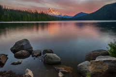 There is no remedy for love but to love more… (ferpectshotz) Tags: sunset mountain lake water oregon reflections portland calm mthood pacificnorthwest lostlake cascaderange mountainatsunset