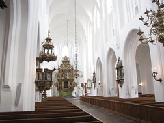 Nave, St. Peter's Church (Sankt Petri kyrka) (Beth M527) Tags: sweden churches malm malmo 2014 stpeterschurch sanktpetrikyrka housesofgod photobypeter