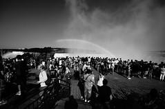 American Falls, Niagara Falls,And lots of People (WeaponofChoiceA55) Tags: people blackandwhite bw sony tourist niagara falls
