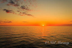 Sunrise on the Irish Sea aboard the Stena Europe. (MNM Photography 2014) Tags: sea sky orange seascape ferry sunrise orangesky rosslare irishsea stenaeurope rosslareeuroport