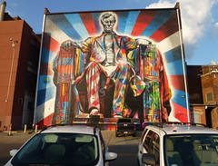 Psychedelic Abe (Scott Beveridge) Tags: mural lexington kentucky abrahamlincoln