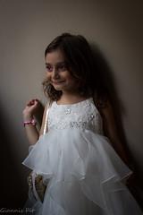 Happy little bride posing..