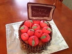 Fondant apple cake, Hollister,CA, www.birthdaycakes4free.com
