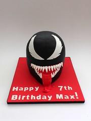 Venom Birthday Cake (Fairy Dust Bakery) Tags: birthday cake spiderman venom fondant picmonkey:app=editor