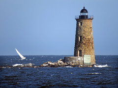 Whaleback Lighthouse on a very windy day! (ParkerRiverKid) Tags: sailboat tilted odc whalebacklighthouse