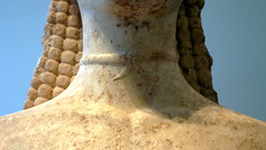 New York Kouros, detail of neck