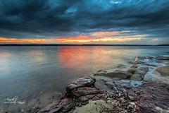 Just before it Rained .... (Avisek Choudhury) Tags: longexposure sunset nc northcarolina apex leefilters nikond800 singhrayreversegnd avisekchoudhury acratechballhead nikon1635mm httpwwwaviseknet avisekchoudhuryphotography jordonlakenc