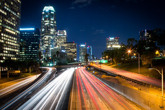 Leukocytes & Erythrocytes (kian|ski) Tags: timelapse nightshot freeway downtownlosangeles