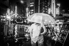 Shinjuku RainRain (kirainet) Tags: bw rain shinjuku