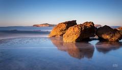 Rock Regatta (Mike Hankey.) Tags: seascape sunrise focus published monavale bungan