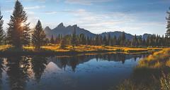 Sunset at Grand Teton Nat Park (Ms Stacy) Tags: grandtetonnationalpark wyoming mountains sunset lake water matte