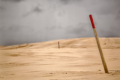 Trail posts (RWYoung Images) Tags: rwyoung canon 5d3 southaustralia sand dune coast beach wind landscape